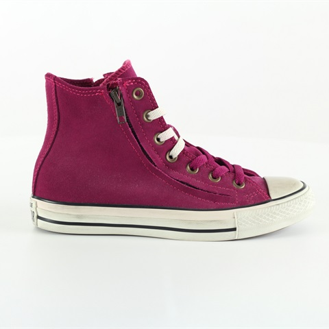 W SCARPA AS HI DOUBLE ZIP SUEDE FUXIA CONVERSE