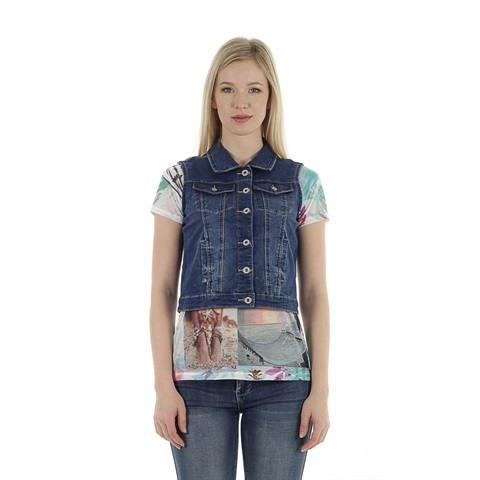 GILET JEANS DONNA YES ZEE