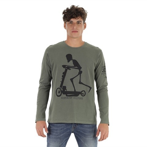 T-SHIRT STAMPA TESCHIO UOMO SCORPION BAY