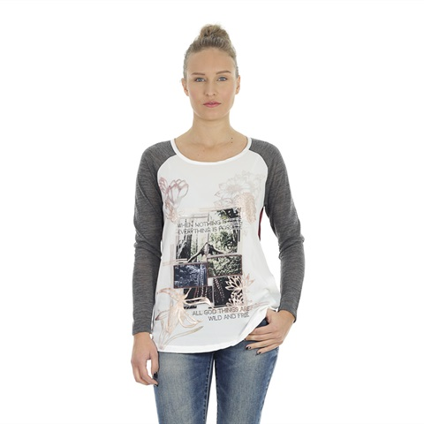 MAGLIA STAMPA BICOLOR DONNA YES ZEE