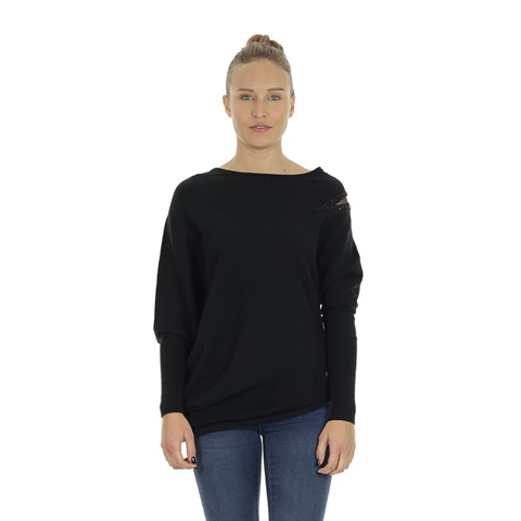 MAGLIONE ASIMMETRICO PERLINE DONNA YES ZEE