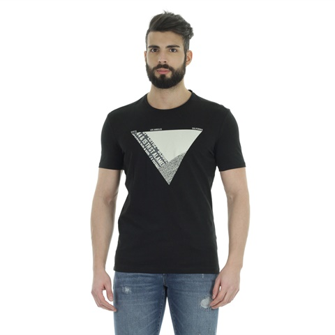 T-SHIRT STAMPA TRIANGOLO UOMO GUESS