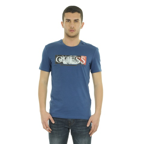 T-SHIRT STAMPA FRONTALE LOGO GUESS