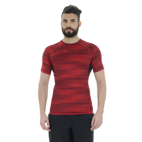 T-SHIRT HEATGEAR ARMOUR SHORT SLEEVE COMPRESSION UOMO UNDER ARMOUR
