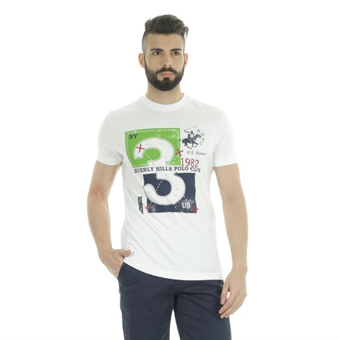 T-SHIRT STAMPA NUMBER 3 BEVERLY HILLS POLO CLUB