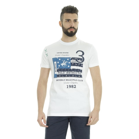 T-SHIRT STAMPA FLAG UOMO BEVERLY HILLS POLO CLUB