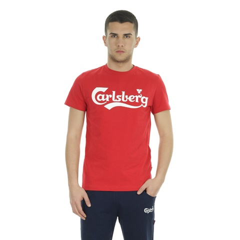 T-SHIRT BIG LOGO STRETCH UOMO CARLSBERG