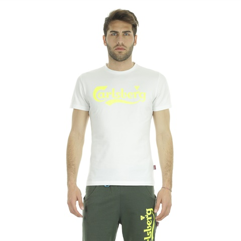 T-SHIRT BIG LOGO FLUO STRETCH UOMO CARLSBERG
