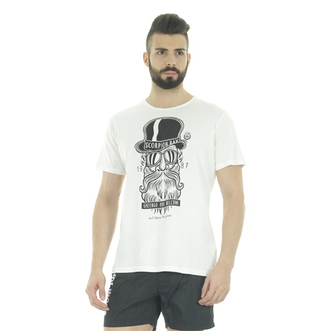 T-SHIRT STAMPA BARBONE UOMO SCORPION BAY