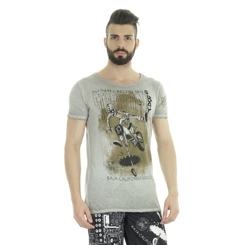 T-SHIRT STAMPA MOTOCROSS UOMO SCORPION BAY