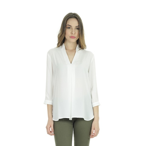 BLUSA COLLO A V DONNA ANIS WHITE