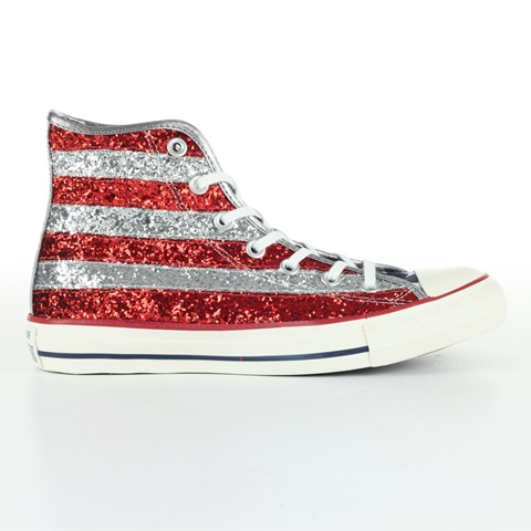 SCARPA ALL STAR HI GLITTER USA FLAG DONNA CONVERSE