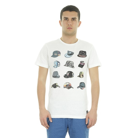 T-SHIRT STAMPA CAPPELLI UOMO BLEND
