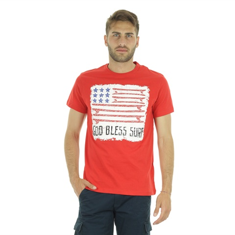 T-SHIRT GRAPHIC FLAG UOMO FRANKIE GARAGE
