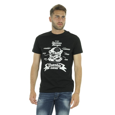 T-SHIRT GRAPHIC BURGER UOMO FRANKIE GARAGE