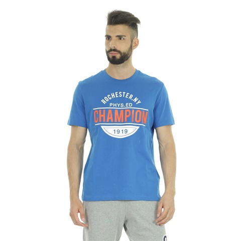 T-SHIRT GRAPHIC ROCHESTER NEW YORK UOMO CHAMPION