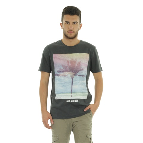 T-SHIRT STAMPA PALMA UOMO JACK E JONES